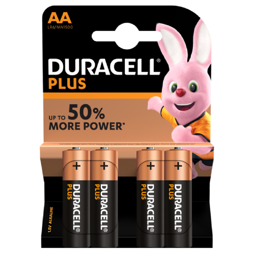 BATTERY DURACELL AA LR6 (4 PACK)
